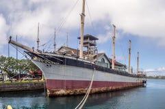 Cadute di Clyde il 6 agosto 2016 nel porto di Honolulu Fotografie Stock Libere da Diritti