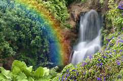 Cadute di FallsRainbow del Rainbow Immagini Stock