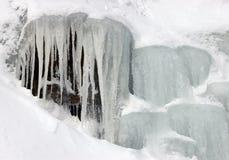 Cadute di ghiaccio Fotografia Stock