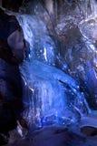 Cadute di ghiaccio sotterranee Fotografie Stock
