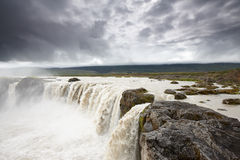 Cadute di Godafoss, Islanda Immagine Stock