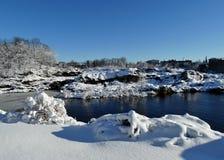 Cadute di grande di inverno Fotografia Stock Libera da Diritti