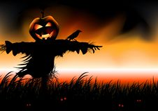 Cadute di Halloween Fotografia Stock