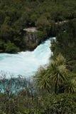 Cadute di Huka, Nuova Zelanda fotografia stock