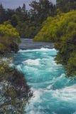 Cadute di Huka, Nuova Zelanda Immagine Stock