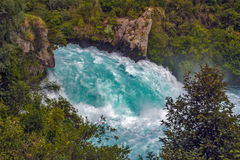 Cadute di Huka, Nuova Zelanda Fotografia Stock Libera da Diritti