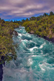 Cadute di Huka, Nuova Zelanda Fotografie Stock Libere da Diritti