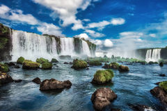 Cadute di Iguacu, Brasile, Sudamerica Fotografia Stock Libera da Diritti