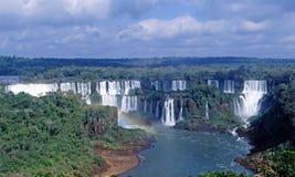 Cadute di Iguacu di panorama Immagine Stock