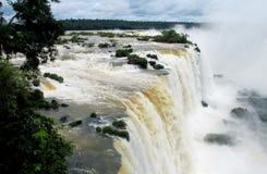 Cadute di Iguazu (Iguassu) Fotografia Stock Libera da Diritti