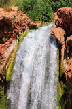Cadute di Mooney, canyon di Havasu, prenotazione indiana di Havasupai, Arizona Fotografia Stock Libera da Diritti