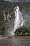 Cadute di signora Bowen, Milford Sound, Nuova Zelanda Fotografia Stock Libera da Diritti