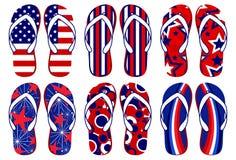 Cadute di vibrazione della bandiera americana royalty illustrazione gratis