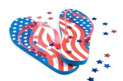 Cadute di vibrazione patriottiche Immagini Stock Libere da Diritti