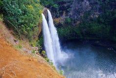 Cadute di Wailua, Kauai Fotografie Stock Libere da Diritti