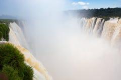 Cadute famose di Iguacu Fotografie Stock Libere da Diritti