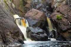 Cadute più basse del gabbro - fiume nero, penisola superiore Michigan Fotografia Stock