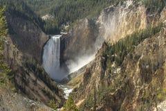 Cadute più basse di Yellowstone da Artist& x27; punto di s fotografie stock libere da diritti