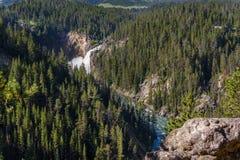 Cadute più basse di Yellowstone, Wyoming Grand Canyon del parco di Yellowstone, il fiume Yellowstone Fotografie Stock
