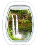 Cadute sceniche di Manawaiopuna di volo Immagine Stock Libera da Diritti