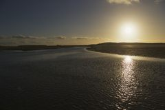 Cadzand de la Mer du Nord Photographie stock