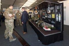 CAE防御和安全立场  库存照片