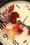 Cae detrás el cambio del tiempo Imágenes de archivo libres de regalías