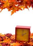 Cae detrás el cambio del tiempo Foto de archivo libre de regalías