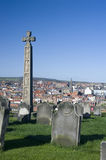 Caedmons Cross, Whitby Stock Photos