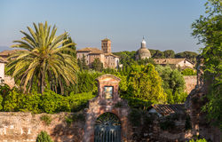 Caelian Hill, one of Seven Hills of Rome, Italy royalty free stock photos