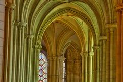 Caen abbayen hjälpHommes i Frankrike Royaltyfri Fotografi