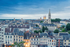 Caen aerial cityscape, Normandy - France Royalty Free Stock Images