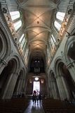 Caen Cathedral aisle Stock Image