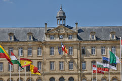 Caen city hall in Normandie Royalty Free Stock Image