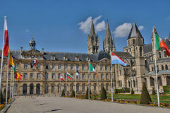 Caen city hall in Normandie Stock Photography