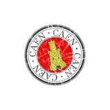 Caen city stamp Royalty Free Stock Image