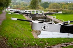 Caen Hill Locks royalty free stock photo