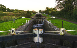 Caen Hill locks Royalty Free Stock Images