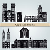 Caen landmarks and monuments Stock Photography