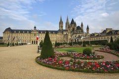 Caen medeltida abbotskloster Royaltyfri Foto