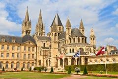 Caen (Normandía, Francia), hommes aux. de Abbaye Fotografía de archivo