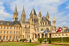 Caen (Normandië, Frankrijk), Abbaye aux hommes Stock Fotografie