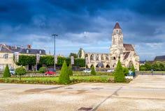 Caen normandie Abteiäußeres und -gärten Lizenzfreie Stockfotos