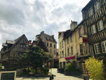Caen Old Street. Caen old quarter, Normandy, France Royalty Free Stock Photos