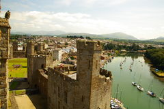 Caenarfon Castle, Wales, UK. Stock Photography