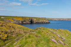 Caer Bwdy Bay Pembrokeshire West Wales UK near St Davids Royalty Free Stock Photos