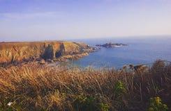 Caerfai wybrzeże Obrazy Royalty Free