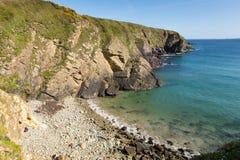 Caerfai zatoki plaża Pembrokeshire Zachodni Walia UK obrazy royalty free