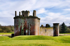 Caerlaverock城堡、邓弗里斯和盖洛韦。 图库摄影