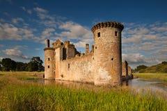 Caerlaverock城堡、邓弗里斯和盖洛韦,苏格兰 免版税库存图片